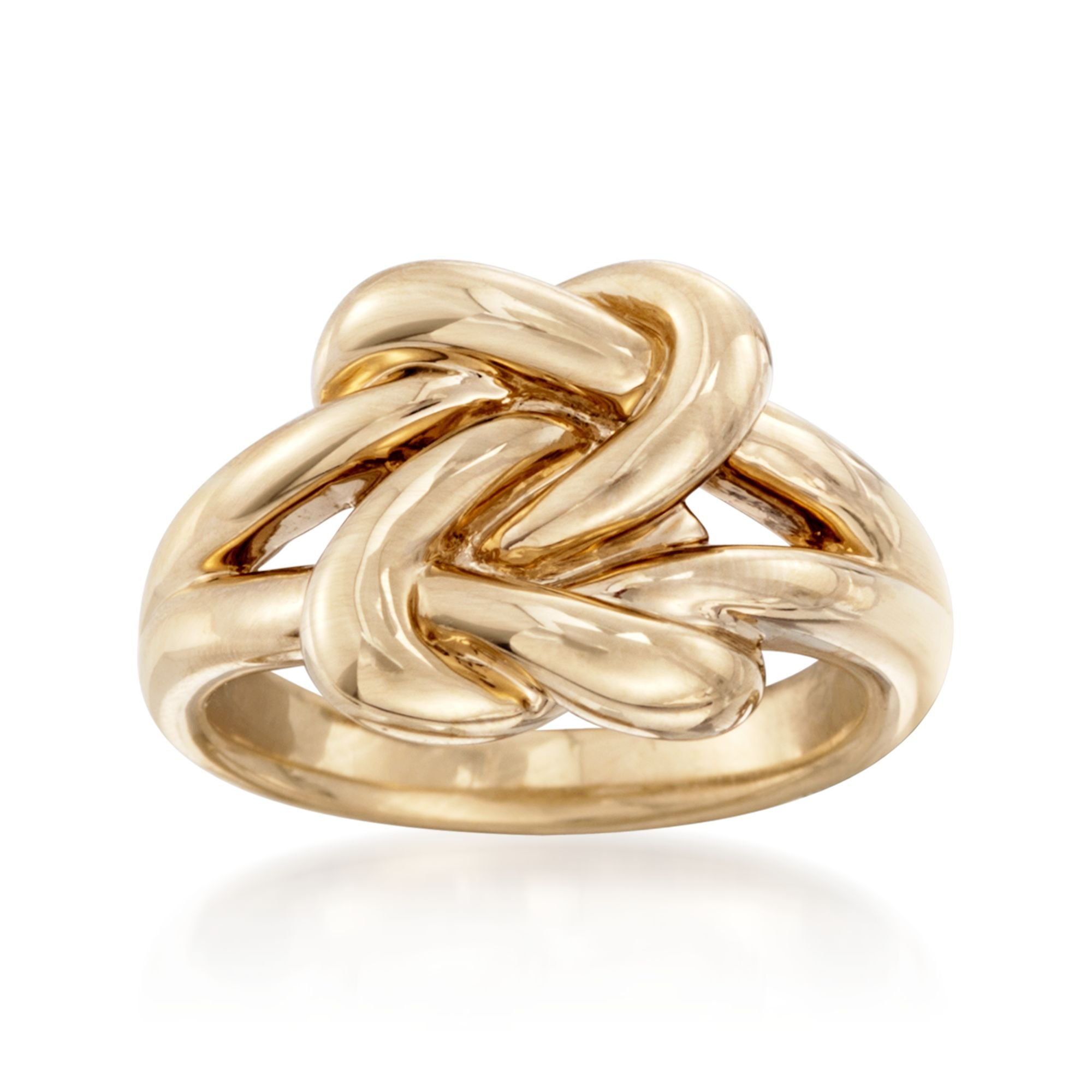 Ross-Simons 14kt Yellow Gold Double Love Knot Ring by Ross-Simons
