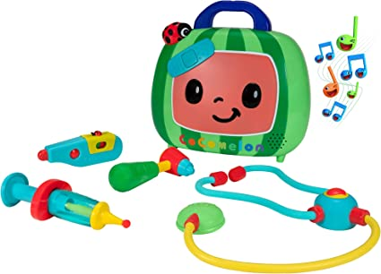 Amazon Com Cocomelon Musical Checkup Case Plays Doctor Checkup Song Includes 4 Themed Medical Doctor Accessories Thermometer Syringe Stethoscope And More For Fun Role Play Toys For Young Children Toys Games
