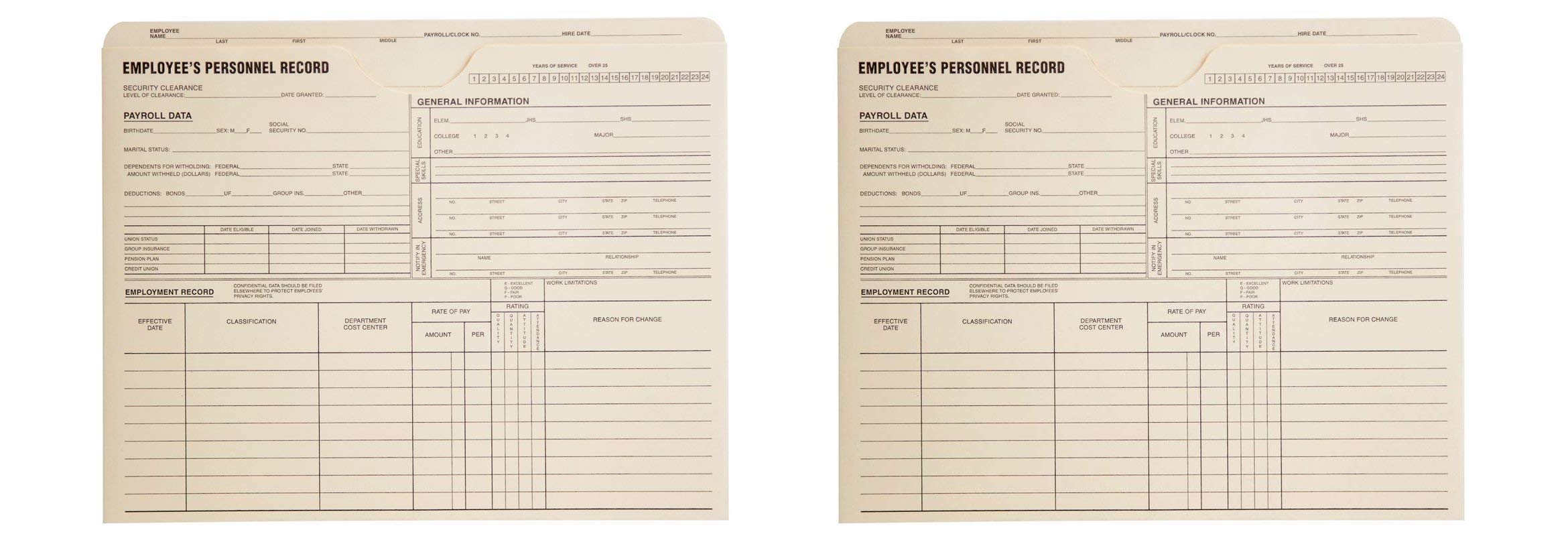 Quality Park, Employee Record Jacket, Manila, 11.75x9.5, 11pt, (69999) (2 X Pack of 100) by Quality Park