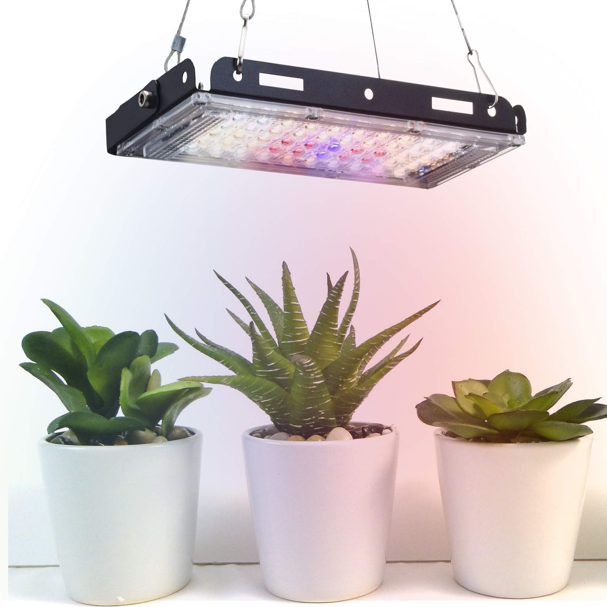 Aogled Grow Light,150W Small LED Grow Lights for Indoor Plants Full Spectrum with On/Off Switch,LED Growing Panel Lamp with Adjustable Grip for Micro Greens,Succulents,Seedlings,Flower,Fruit,Veg