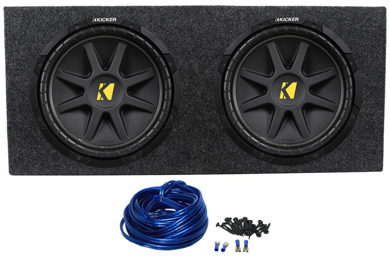 2 Kicker 10c12d4 12 800w Dual 4 Ohm Comp Car Audio Boss Kit2 8 Gauge Complete Amplifier Wiring Kit Pair Vminnovations Subwoofers Subs Sealed Box Electronics