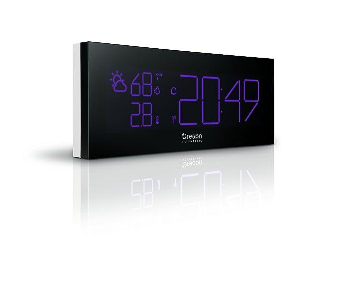 Oregon Scientific BAR292 - Reloj despertador PrysmaChrome con ...