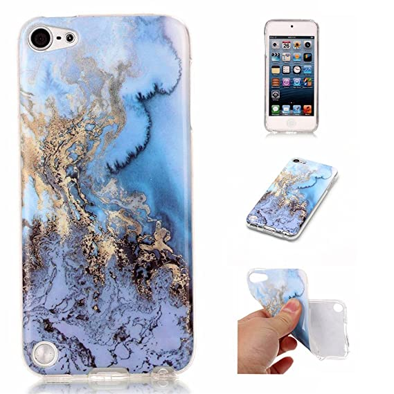 best website d29c9 deb16 iPod 5 / iPod 6 Sea&Blue Marble Case,IVY [Marble] iTouch 5th 6th TPU Case  Cover for iPod Touch 5 / iPod Touch 6 Phone