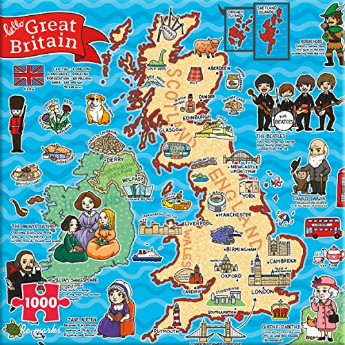 Re-Marks Map of Great Britain 1000 Piece Puzzle