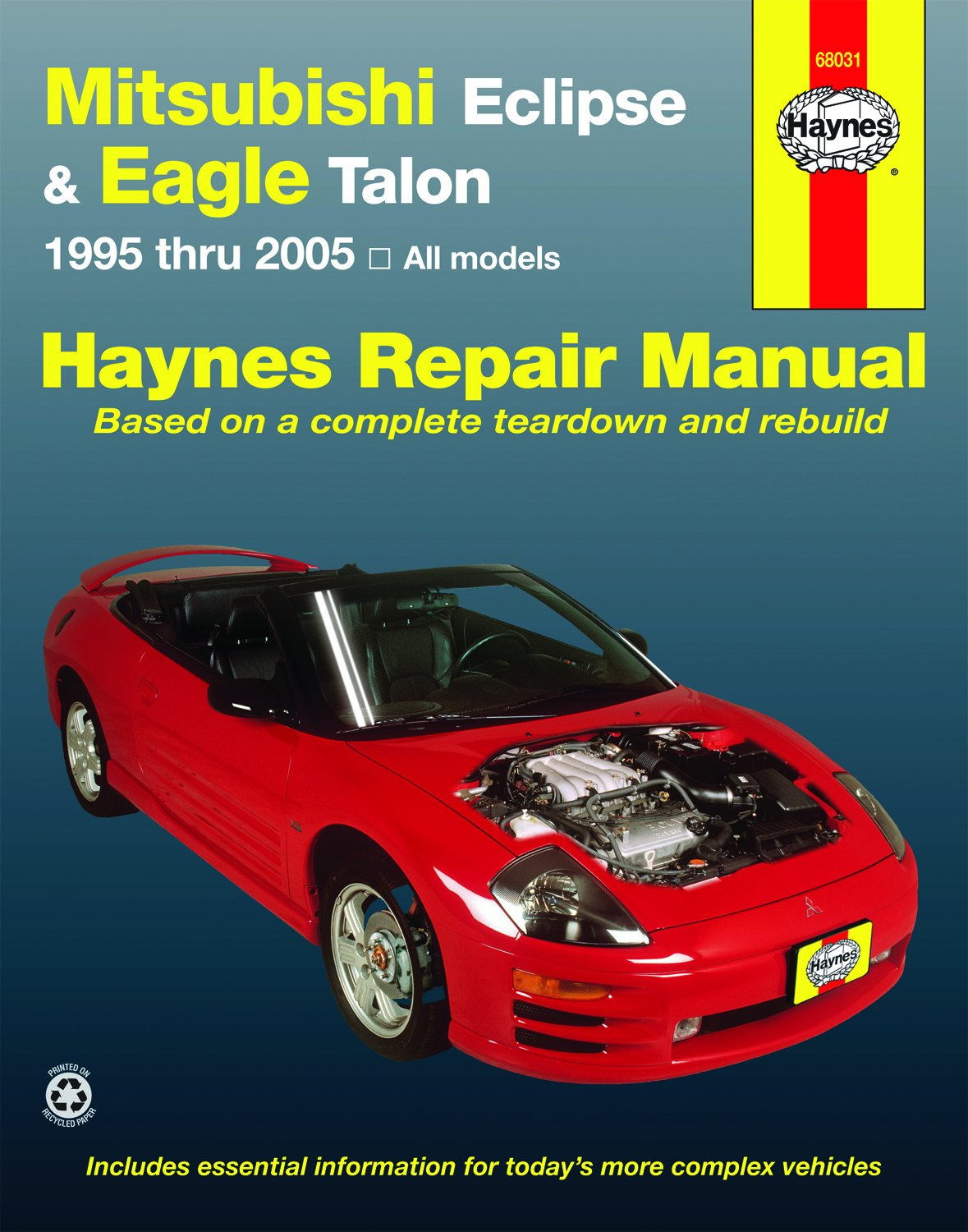 Amazon.com: Haynes Repair Manuals Mitsubishi Eclipse & Eagle Talon, 95-05  (68031): Automotive
