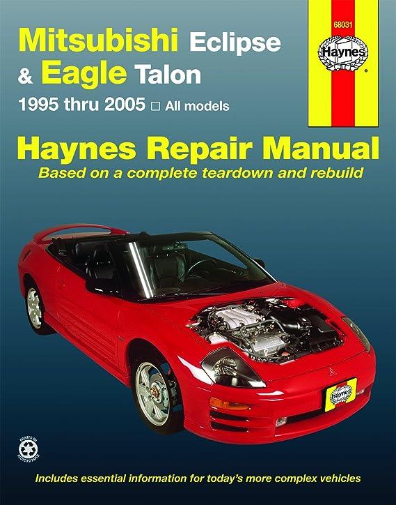 amazon com haynes repair manuals mitsubishi eclipse eagle talon rh amazon com repair manual for 2007 mitsubishi eclipse repair manual for mitsubishi eclipse