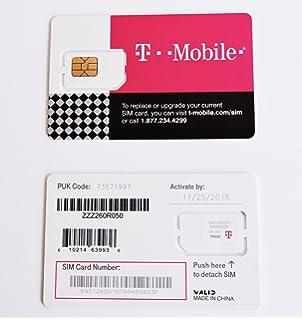 Amazon.com: T-Mobile Nano SIM Card for any Unlocked GSM Phone (No ...