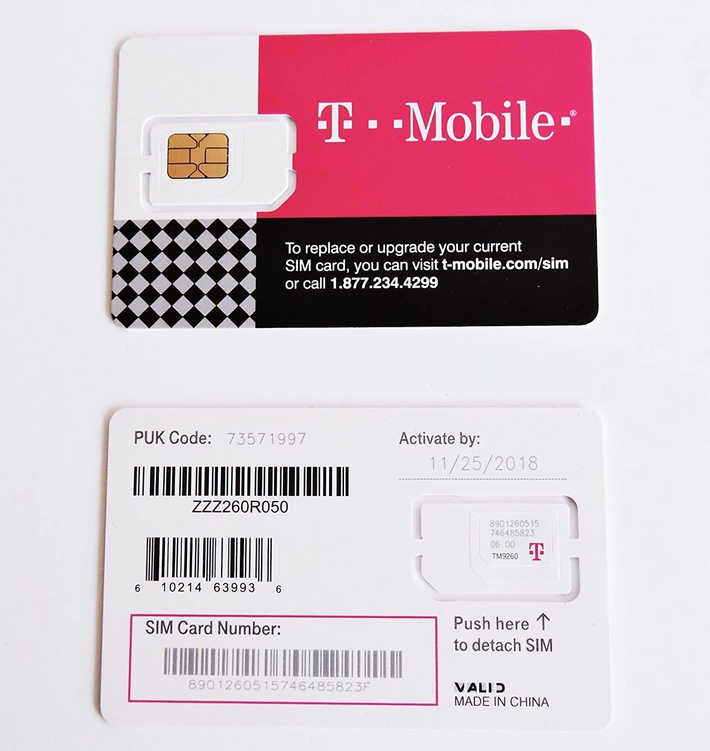 Amazon T MOBILE TRIPLE CUT SIM CARD O STANDARD MICRO NANO GSM 4G LTE UNACTIVATED Cell Phones Accessories