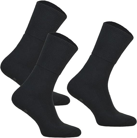 Hommes Bigfoot 100/% Coton Non Élastique Chaussettes Soft Top Thin Toe couture Diabétique Casual
