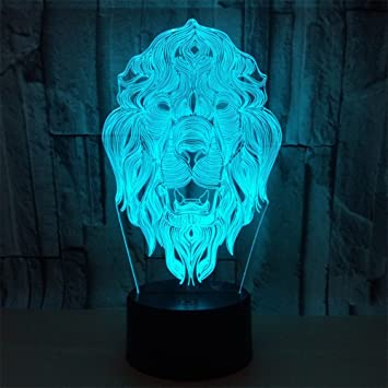 Amazon.com: RGANT - Lámpara LED de escritorio 3D ...