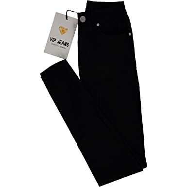 0431ba52484 High Waisted Ultra SkinSBK Cigarette Slim Fit Extra Stretch Junior Pants  Jeans Size 1 in Black