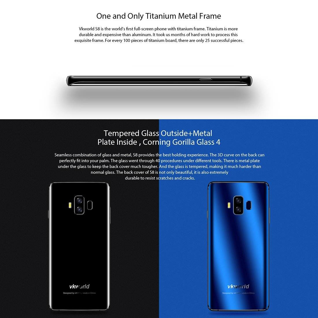 VKWorld S8 desbloqueado Smartphone 4 GB + 64GB 5.99 cm Full ...