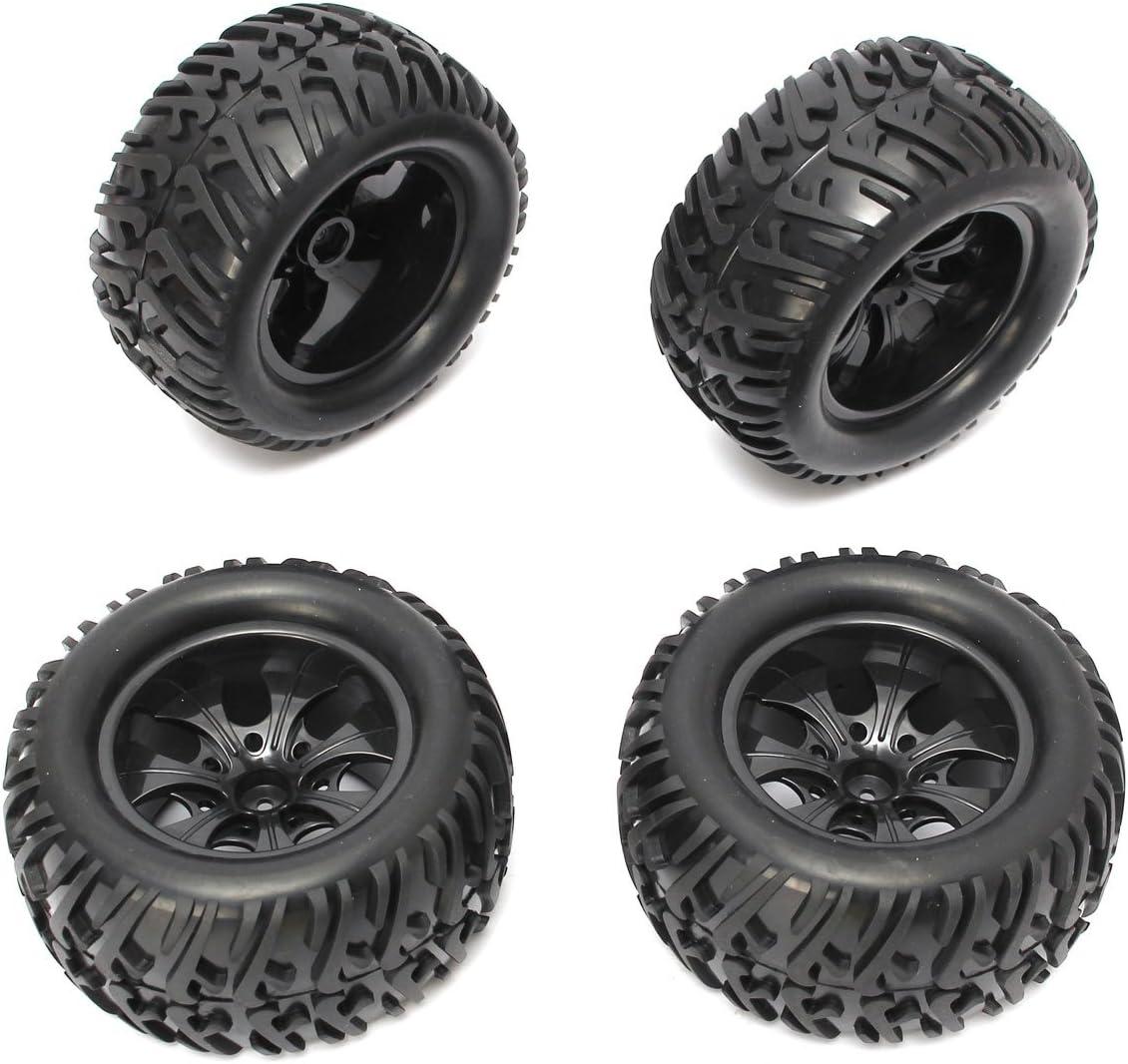 4pcs RC Flat Racing Tires Tyre Wheel Rim Fit HSP HPI 1:10 On-Road Car 6031-8010