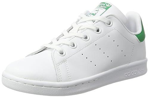 the latest 045ea af1dd adidas Stan Smith C, Scarpe da Ginnastica Basse Unisex-Bambini, Bianco  (Footwear