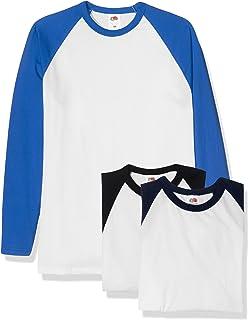 6d593db52 Fruit of the Loom Men's Baseball Classic Long Sleeve T-Shirt: Amazon ...