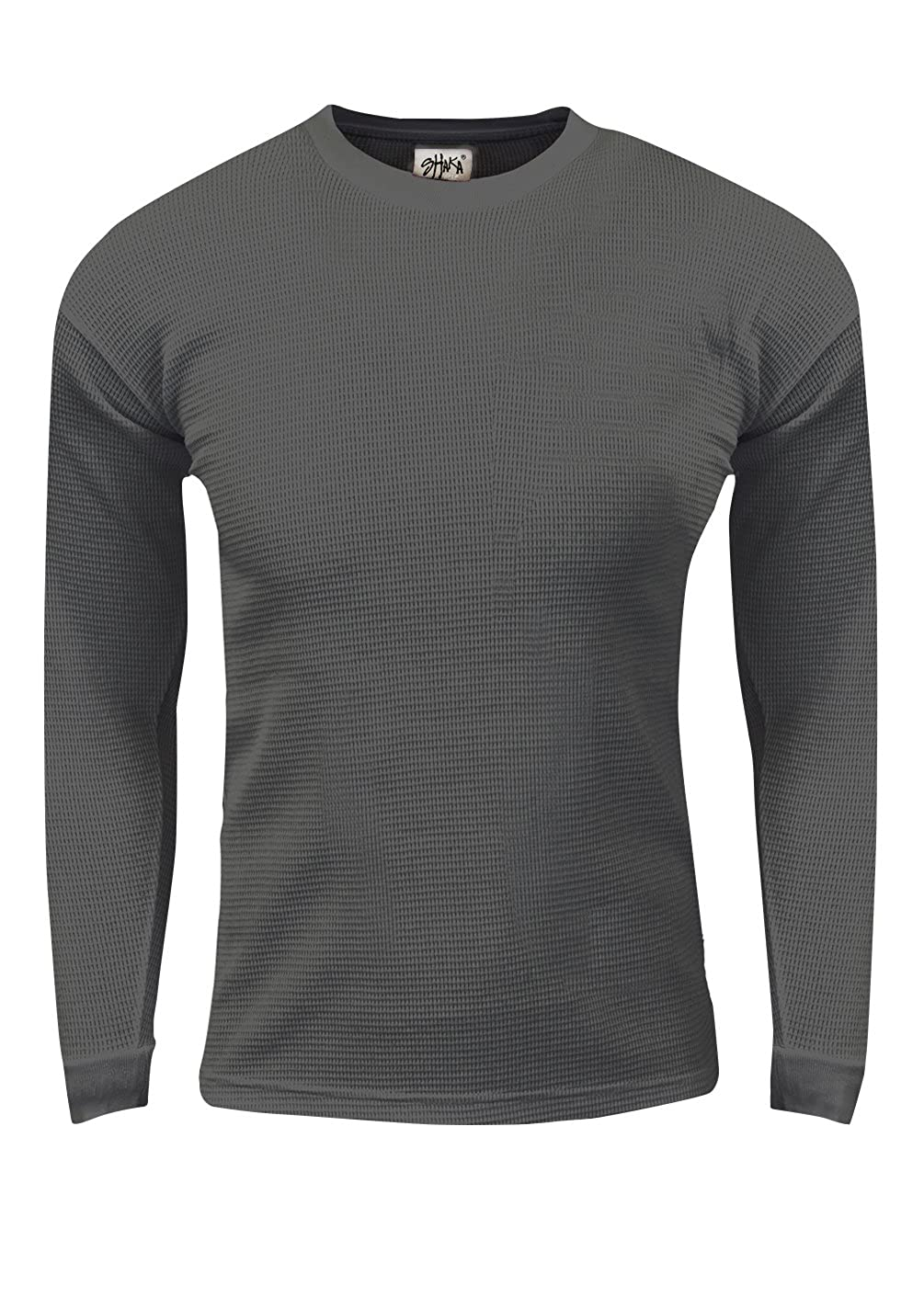 Shaka Wear Mens Thermal Long Sleeve Crewneck Waffle Shirt XS-5XL