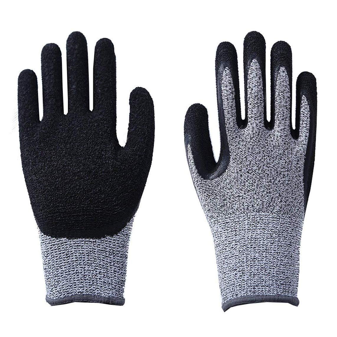 CCBETTER Cut Resistant Gloves Safety Work Gloves with Level 5 Protection Kitchen and Garden Mittens for Meat Cutting Wood Carving Driving and Outdoor Activities (M, Grey)