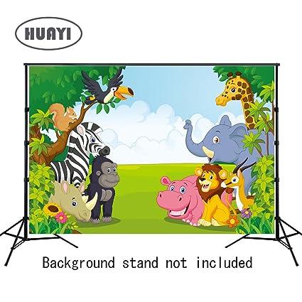 HUAYI 8x6ft Jungle Safari Backdrop Photo Background Kids Photography Backdrops Studio Props Children Birthday Banner