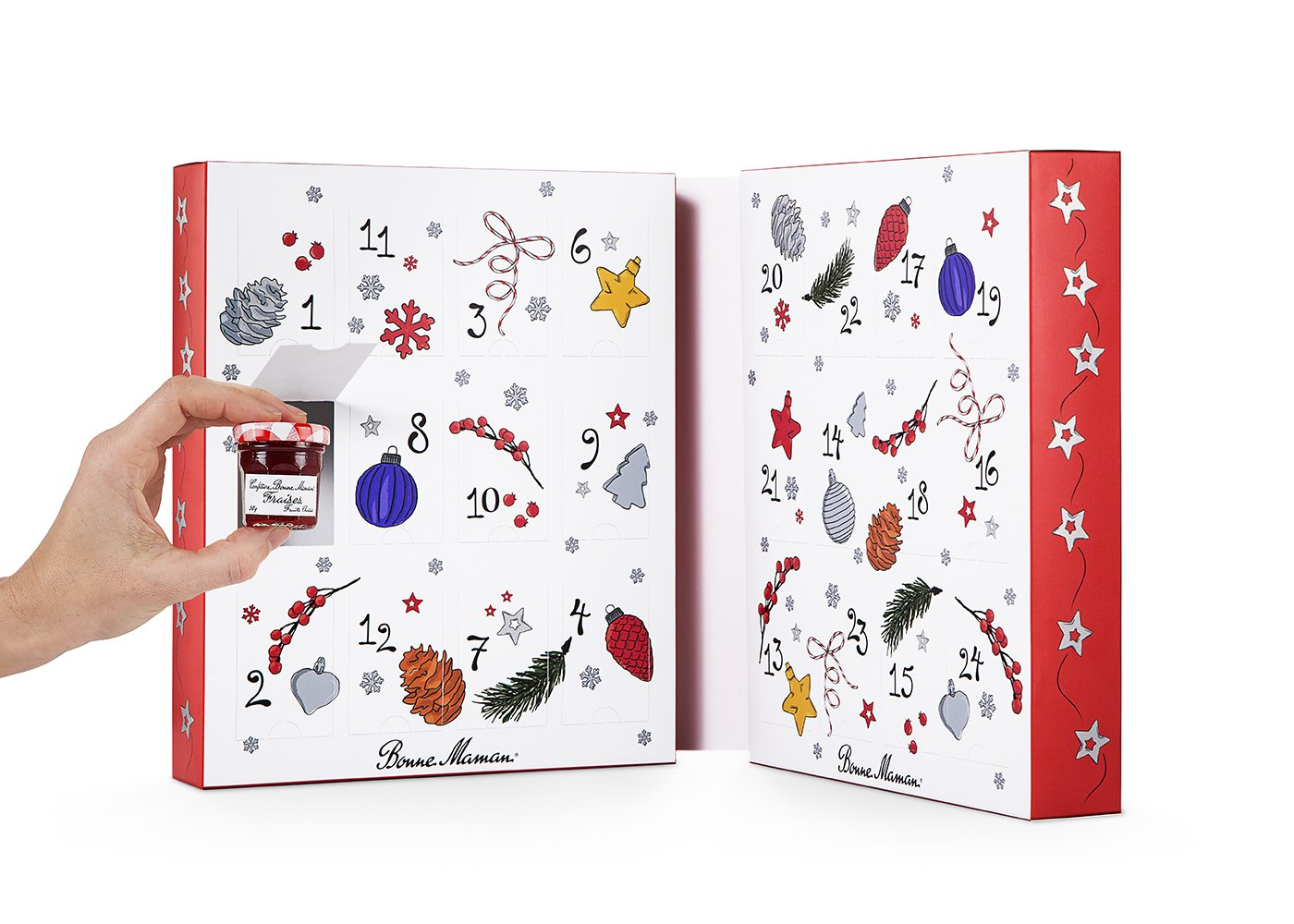 bonne maman 2018 advent calendar with 24 jars amazon com grocery