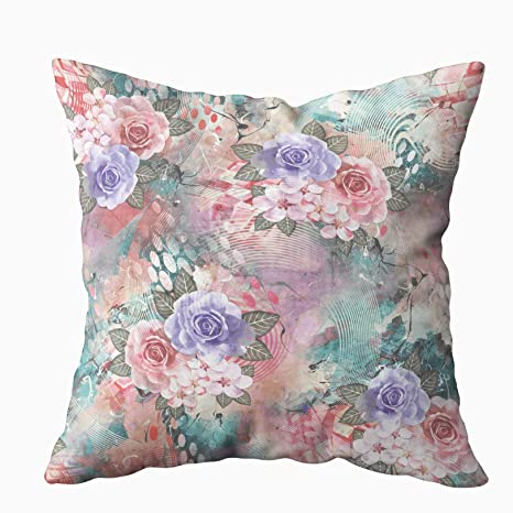 Incredible Shorping Throw Pillows For Couch Zippered Covers Pillowcases 20X20Inch Throw Pillow Covers Flower With Abstract Background For Home Sofa Bedding Inzonedesignstudio Interior Chair Design Inzonedesignstudiocom