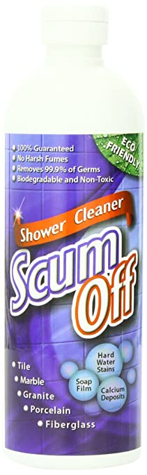quick n brite scum off shower cleaner for hard water 16 ounce
