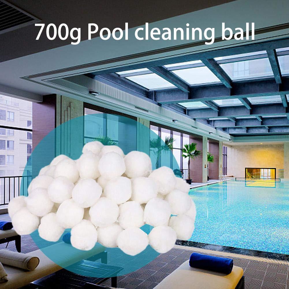Blanc Billes Filtrantes 700g Grandnessry Balles Filtrantes Pompe Sable Polysph/ère Piscine Filtration Balles /À Filtre