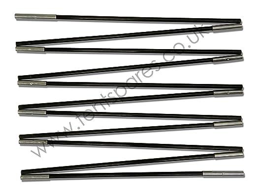 Gelert Bliss 4 Inidual Black Fibreglass Replacement Tent Pole Run  sc 1 st  Amazon UK & Gelert Bliss 4 Inidual Black Fibreglass Replacement Tent Pole ...