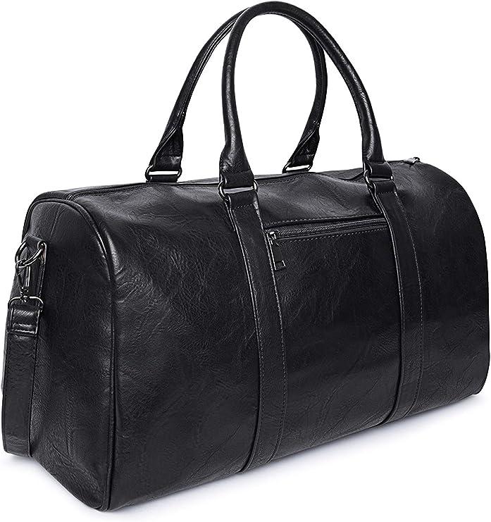 Bolso de viaje deportivo mujer hombre negro bolso de cuero