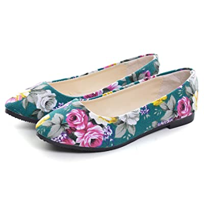 Dear Time Women Flat Shoes Comfortable Slip on Pointed Toe Ballet Flats   Shoes