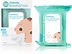 Moisturizing Nose Wipes by Fridababy | BreatheFrida The BoogerWiper Baby Facial tissues and Chest rub for Sensitive Skin