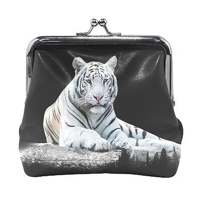Amazon.com: Azul Viper blanco el tigre de Bengala cartera de ...