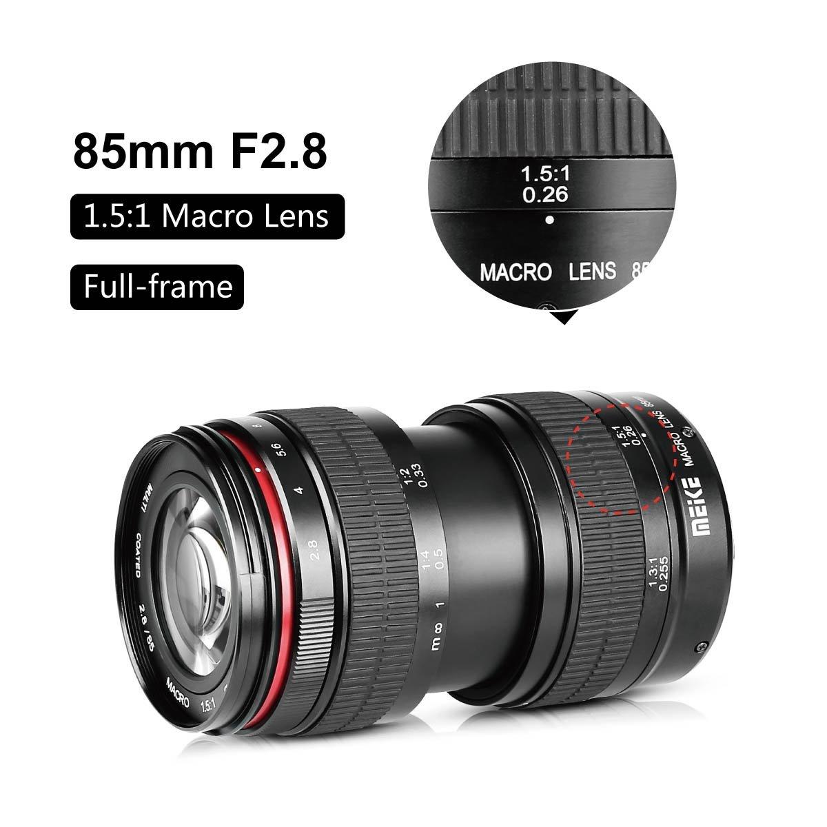 Meike MK 85mm f / 2.8 Manuelle Fokus Full Frame Medium: Amazon.de ...