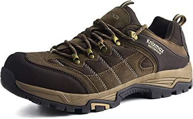 Knixmax-Zapatillas de Montaña para Mujer, Zapatos de Senderismo Calzado de Trekking Escalada Aire Libre Zapatos Low-Top Impermeable Antideslizante ...
