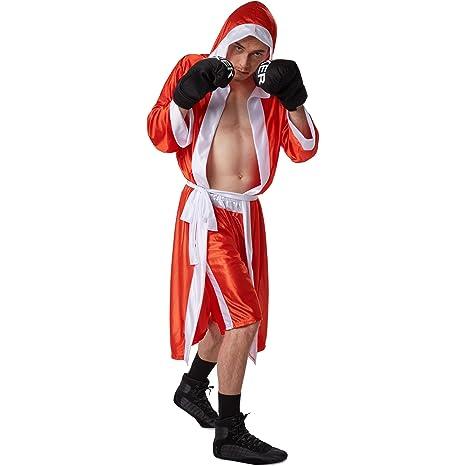 dressforfun Disfraz de boxeador para hombre | Pantalones cortos con cintura elástica | Albornoz de boxeador