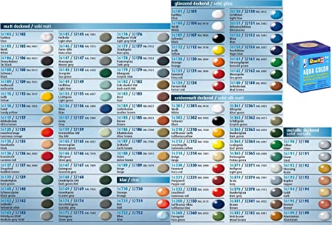 10 Pcs Revell Aqua Color Colour Paints 18ml For Models You Can