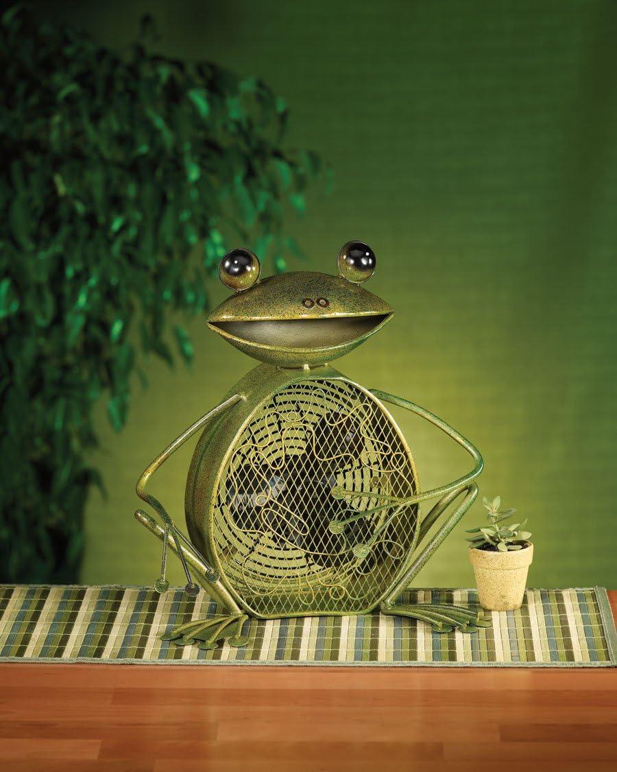 DecoBREEZE Tabletop Frog Figurine Fan