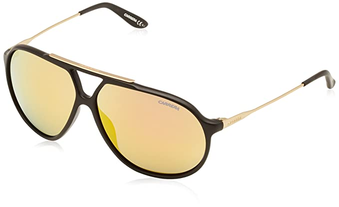 Amazon.com: Carrera 82/S Sunglasses CA82S-072Y-SQ-6411 - Black Gold ...