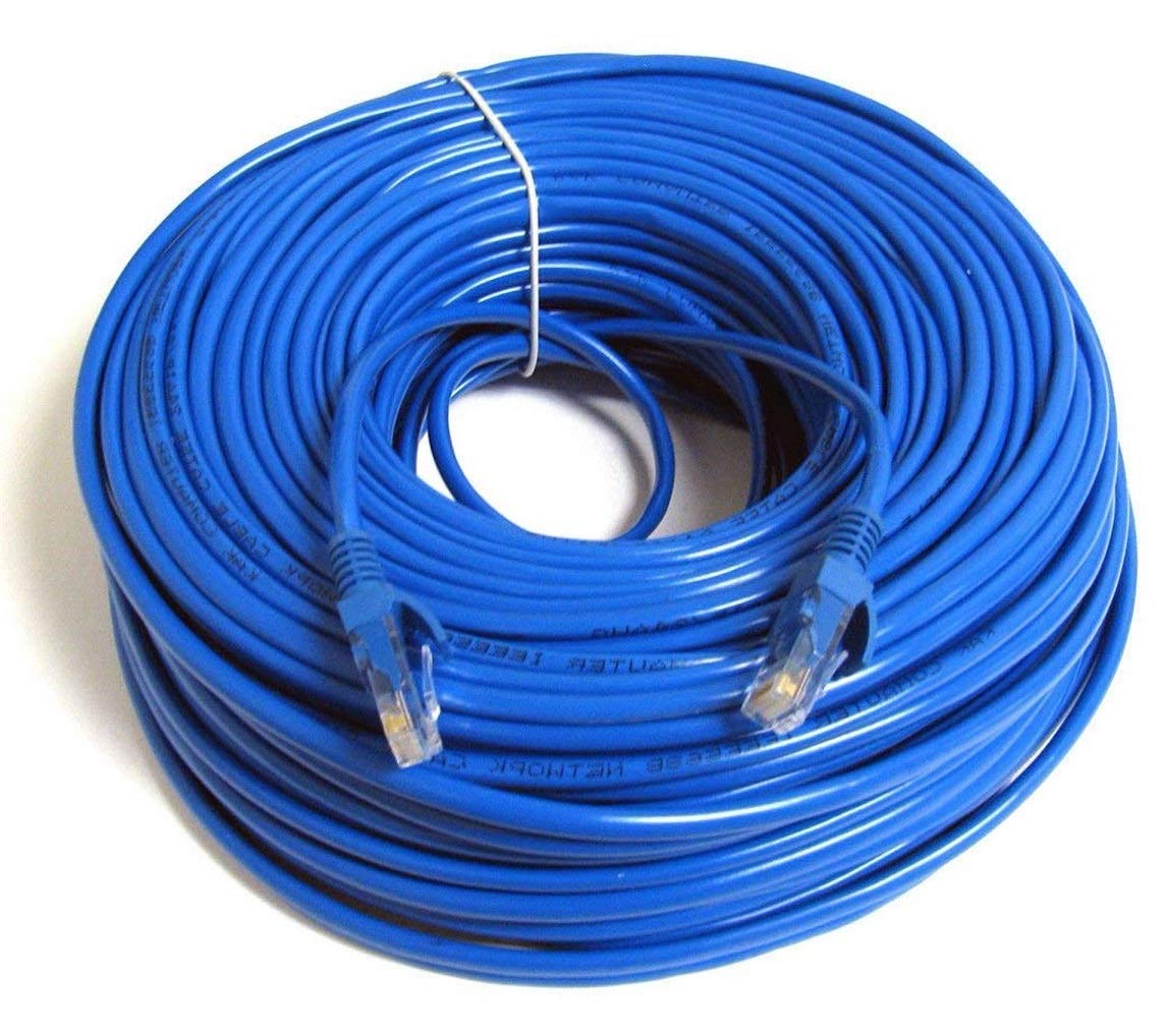 UbiGear New 150ft 50m Blue 150' Ft RJ45 CAT6 Ethernet LAN Network Internet Computer Patch Solid Wire 23 AWG UTP Cable by UbiGear