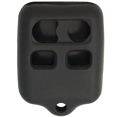 Keyless2Go New Silicone Cover Protective Case for 4 Button Remote Key Fobs FCC CWTWB1U345 CWTWB1U331 - Black: Automotive