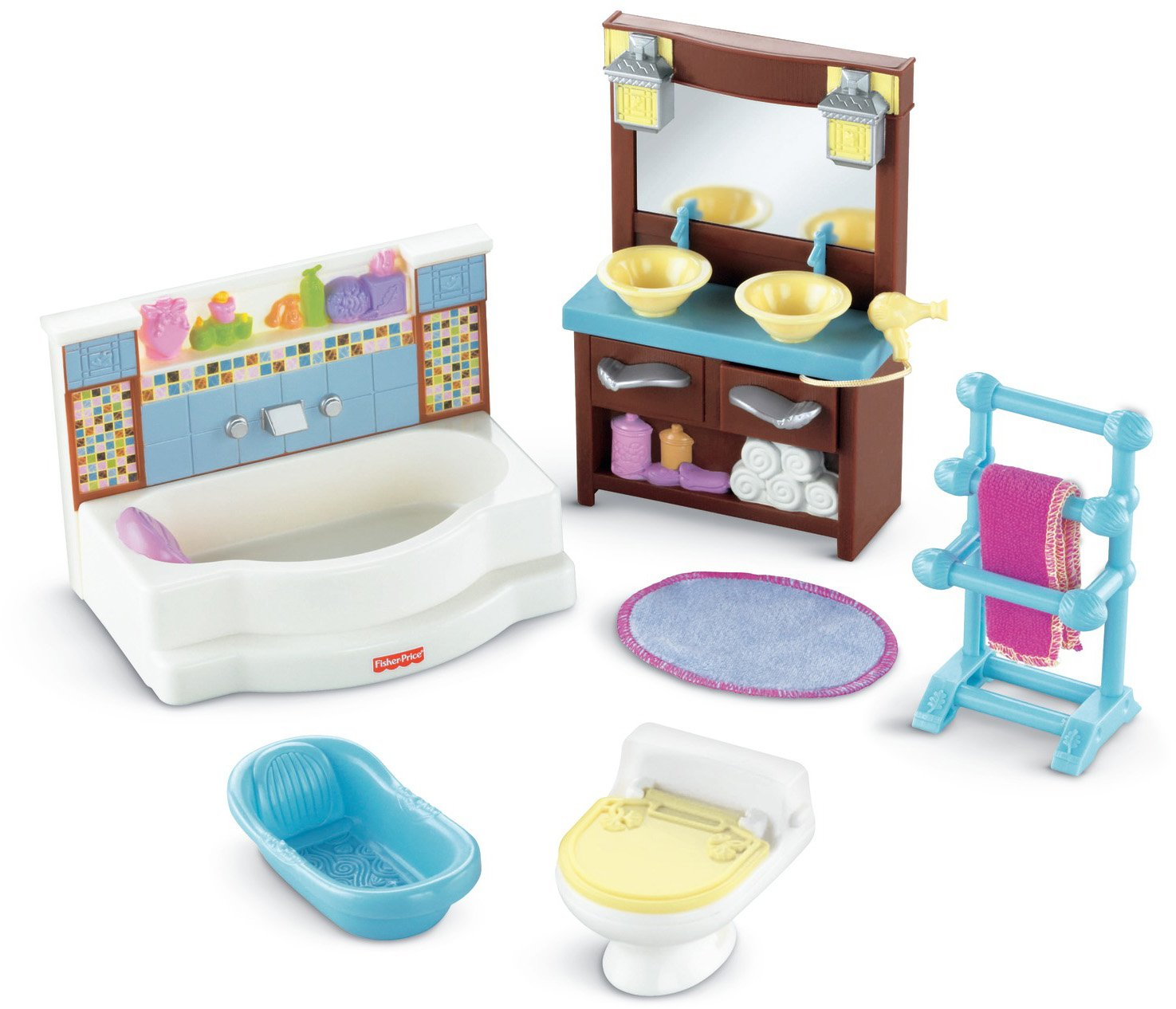 Amazon.com: Fisher-Price Loving Family, Bathroom: Toys & Games
