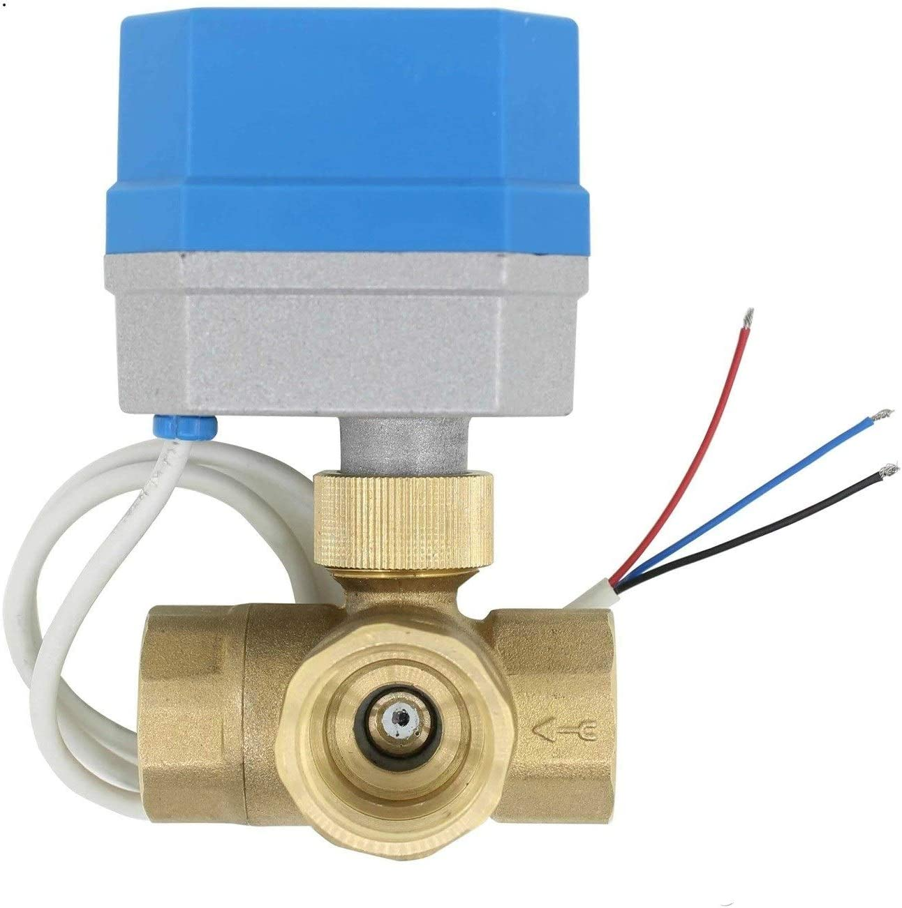 Specification : DC24V, Voltage : DN40 no-branded 2 Way 3way Brass Valve Motorized Ball Valve Electric Ball Valve Electric Actuator Connectors Accessories Valve ZYUS