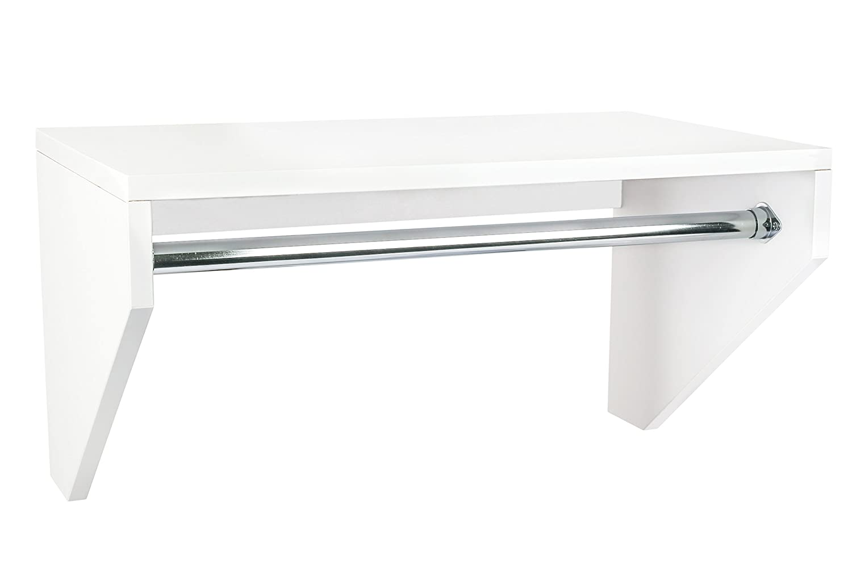 "Modular Closets ¾"" Plywood Shelf and Rod Hanging Closet Organizer System (30"" Wide)"
