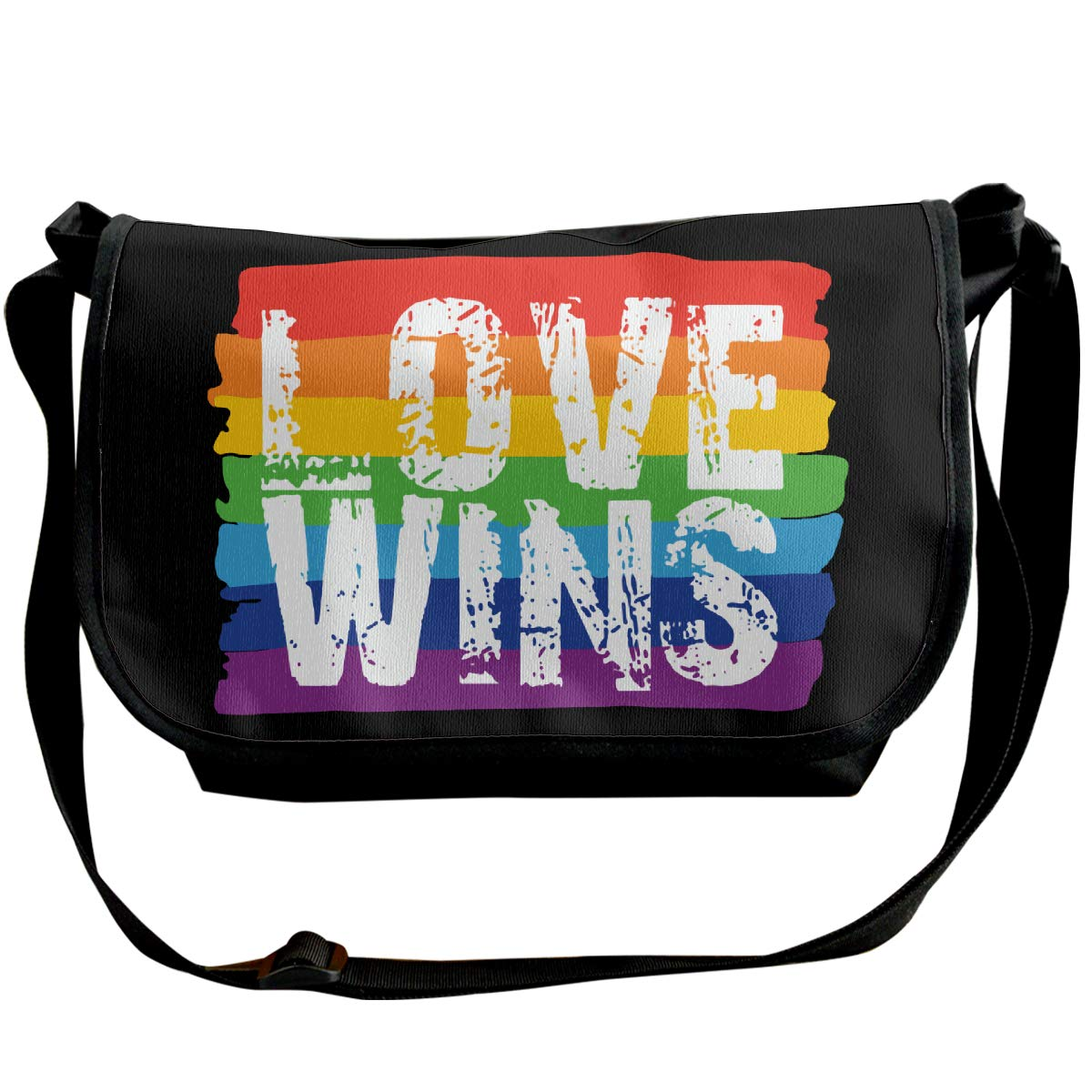 Futong Huaxia LGBT Gay Pride Love Wins Travel Messenger Bags Handbag Shoulder Bag Crossbody Bag Unisex