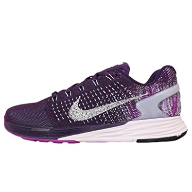 buy online b28b1 bc888 Nike Womens Wmns Lunarglide 7 Flash, GRAND PURPLE RFLECT SILVER-VIVID  PURPLE,