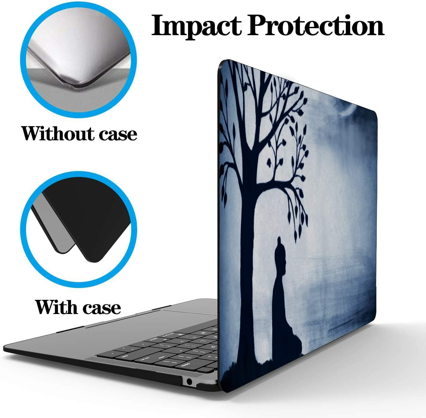 15 Inch Laptop Case Skiing Extreme Sports Entertainment Plastic Hard Shell Compatible Mac Air 11 Pro 13 15 Macbookpro Case Protection for MacBook 2016-2019 Version