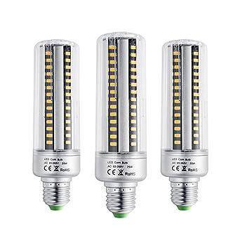 BOGAO Bombillas led E26/E27, 25W, estilo mazorca, ahorro de energiacute;