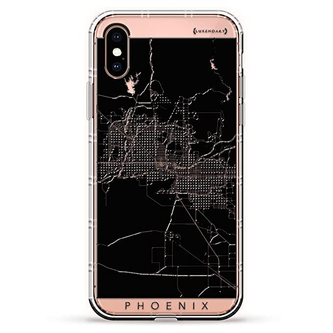 Maps Phoenix Streets Map Luxendary Air Series Clear Case With 3d Printed Design Air Cushions For Iphone Xs X
