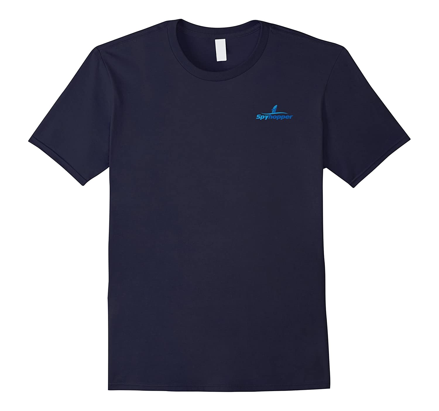 Whale Tees: Simple Spyhopping Whale T-Shirt-FL