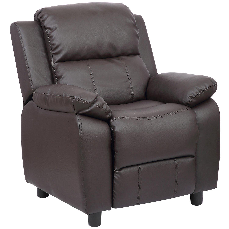 Merax Kids Recliner Chair Sofa PU Leather Dark brown