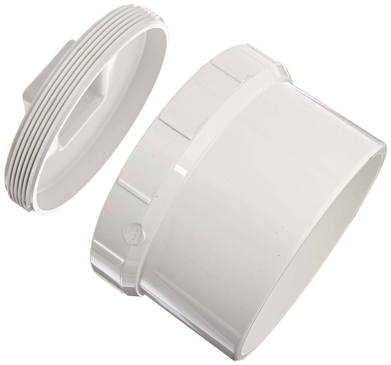 Cleanout Adapter with Plug 6 Spigot x 6 NPT Female Spears P105X Series PVC DWV Spigot Fitting